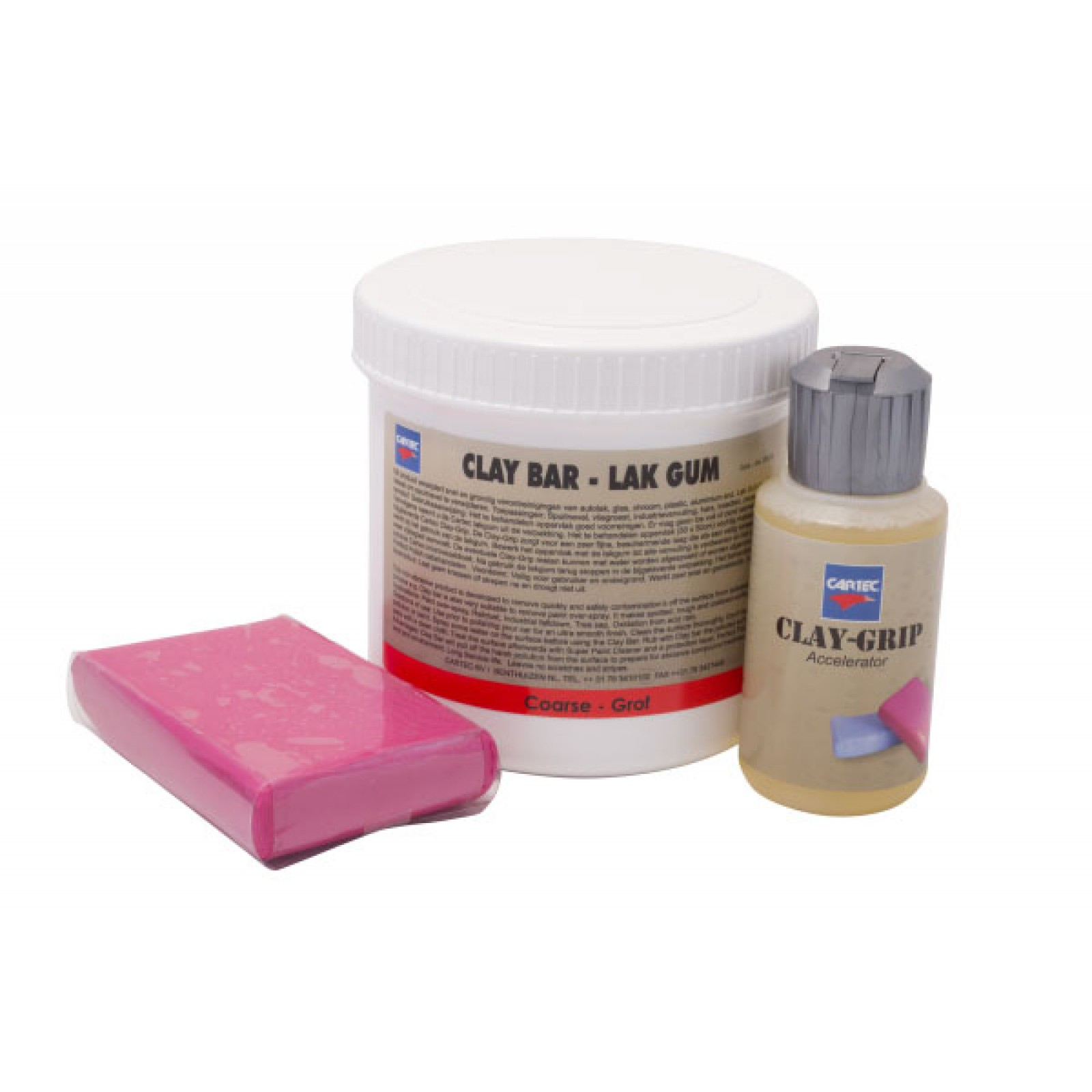 Lakgum Grof/Rood (Incl. 100ml Clay Grip) 200gr