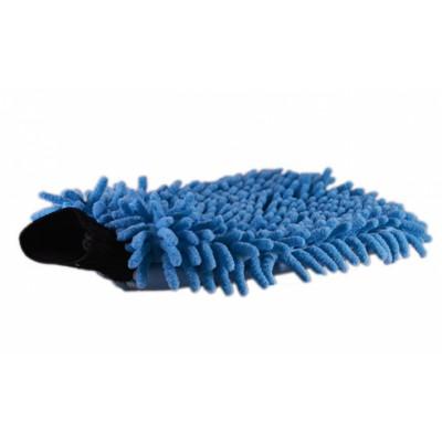 Washandschoen Pino half om half (blauw)